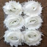 Six Shabby Chic Flowers - Marshmall..