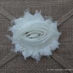 Six Shabby Chic Flowers - Coconut (..