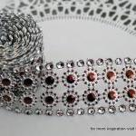 Two yards of faux Rhinestone and Bl..