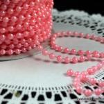 5 yards - 4mm Pearls - Cotton Candy..