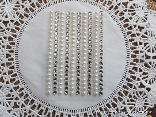 200 - 4mm self adhesive Shabby Chic Bling and Pearls - Diamonds and Pearls