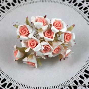 12 - Handmade Porcelain and Mulberry Flowers - Baby Pink